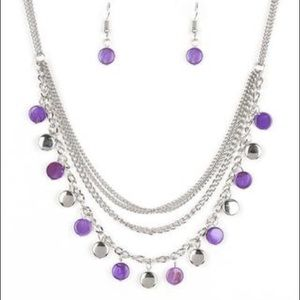 Beach Flavor Purple Necklace